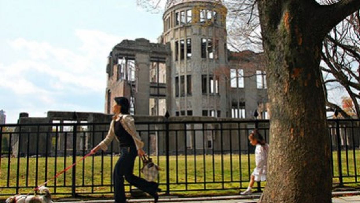 Walking past the Hiroshima Memorial (Gabriel Rodriguez)