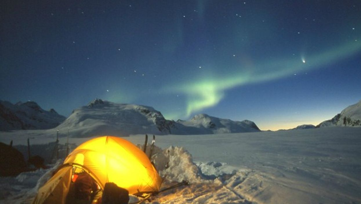 Watching Northern Lights in Greenland