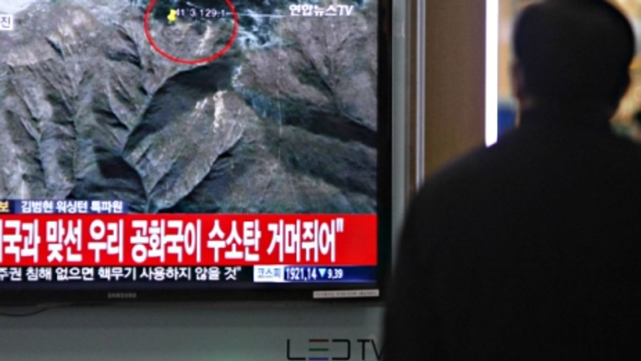 Watching reports on N. Korea's alleged H-bomb test
