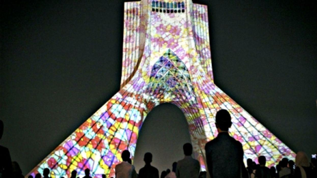 Watching Tehran's Azadi tower