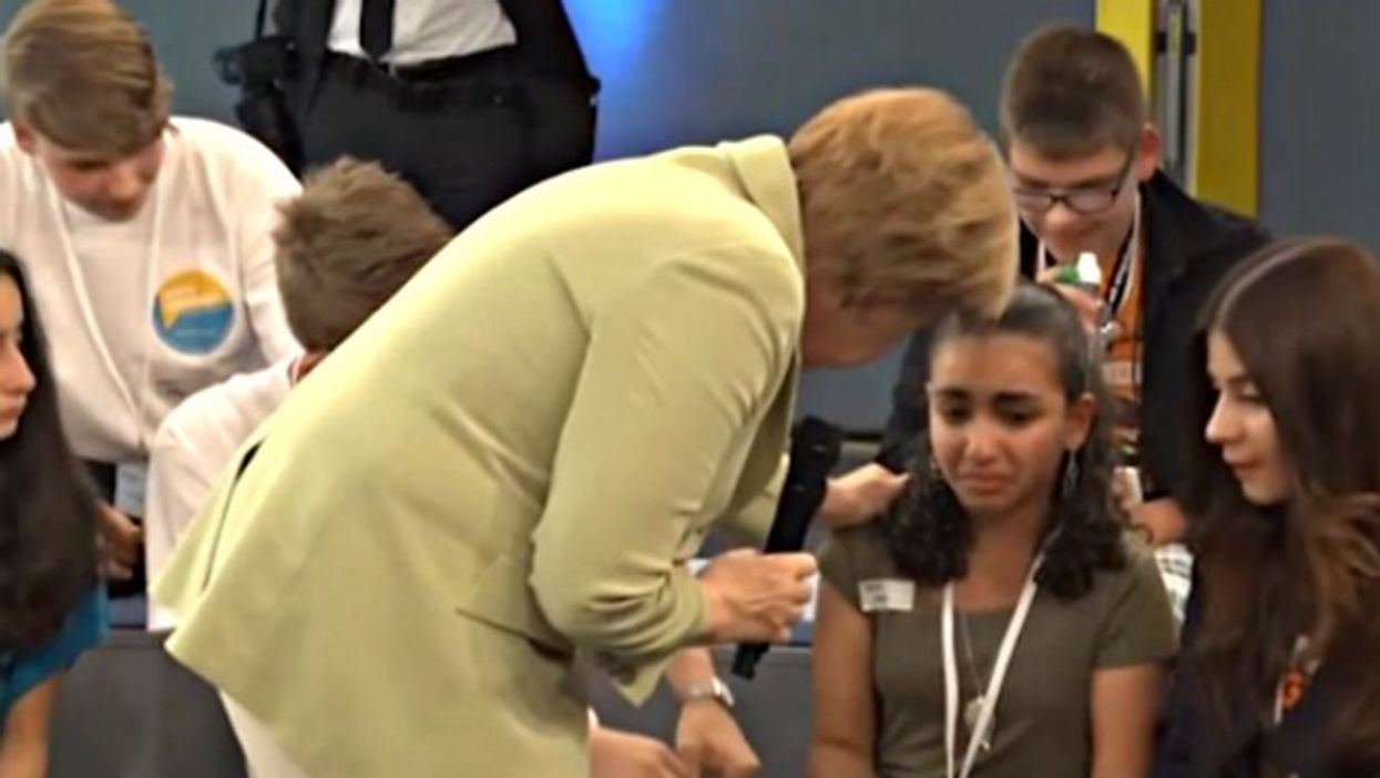 When Angela Merkel made a Palestinian refugee cry on German national television