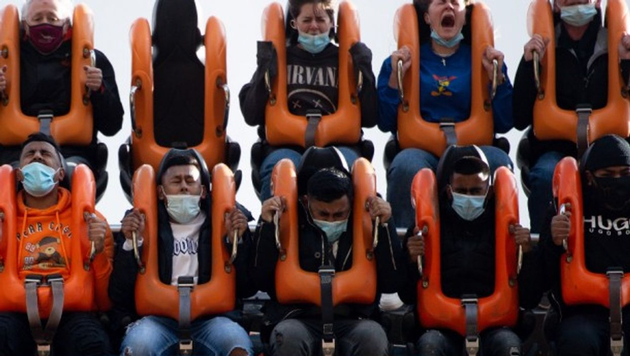 While many Britons opted for a haircut or a pint after the UK partially eased lockdown restrictions, these folk chose to visit the Alton Towers theme park in England.