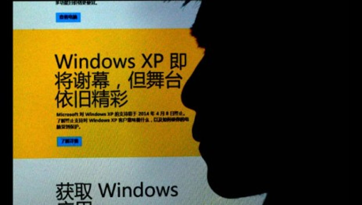 Windows XP release in China earlier this year.