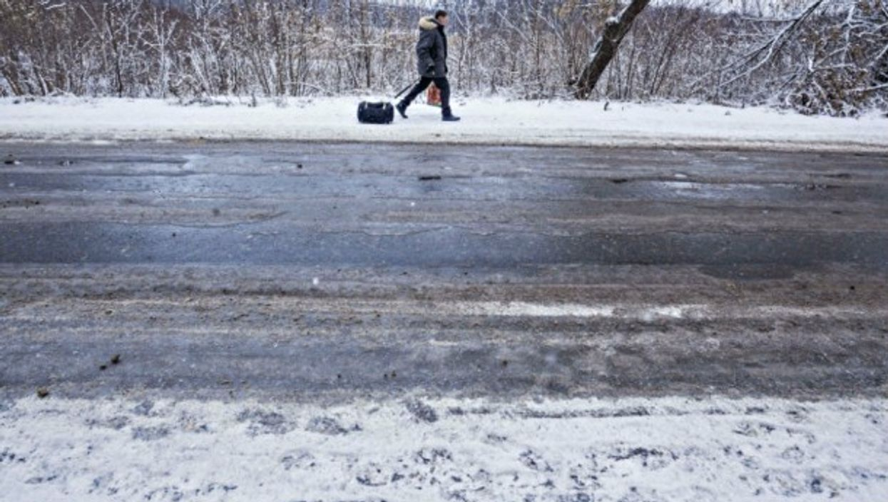 Winter in the Donbass region