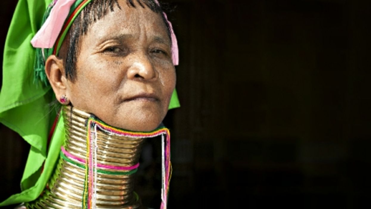 Woman from the Padaung tribe in Ywama village, Myanmar