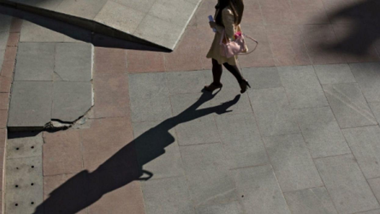 Woman walking in Beijing