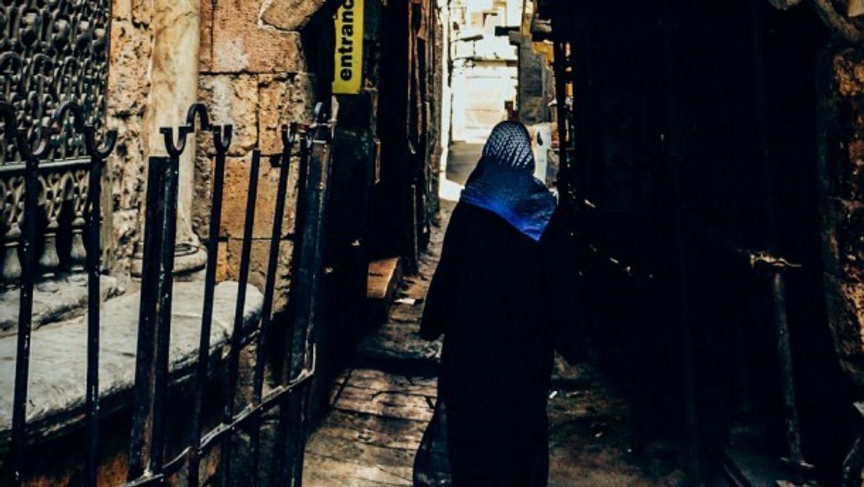 Woman walking in Cairo