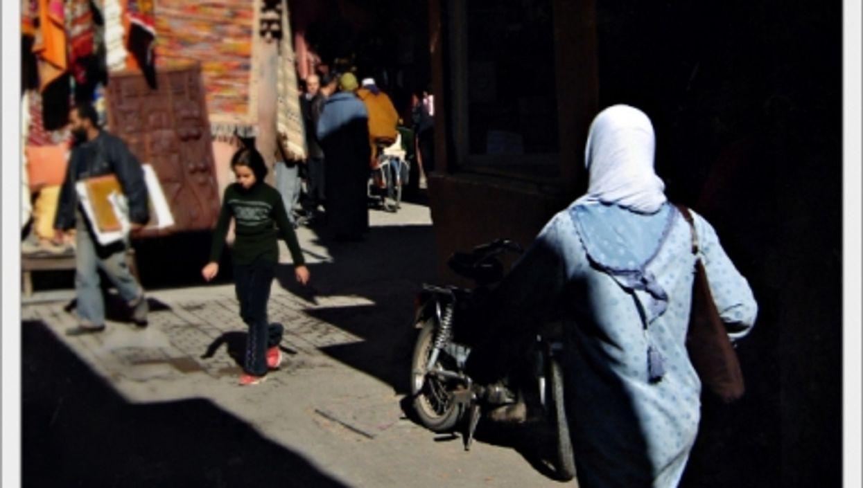 Woman walking in Marrakesh