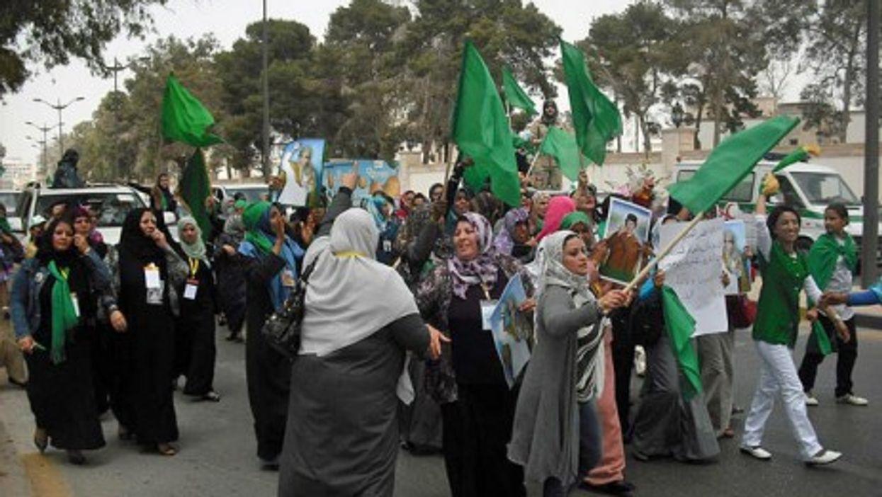 Women marching last May in Tripoli (Magharebia)