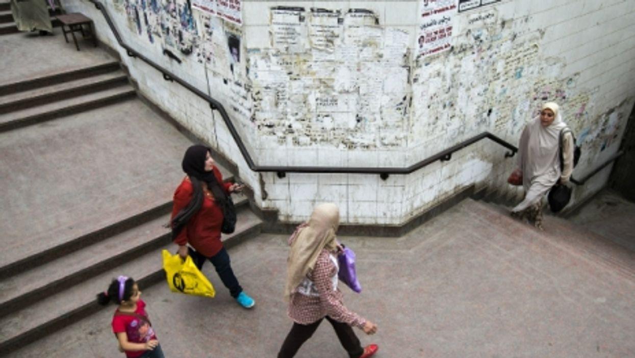 Women walking in Cairo