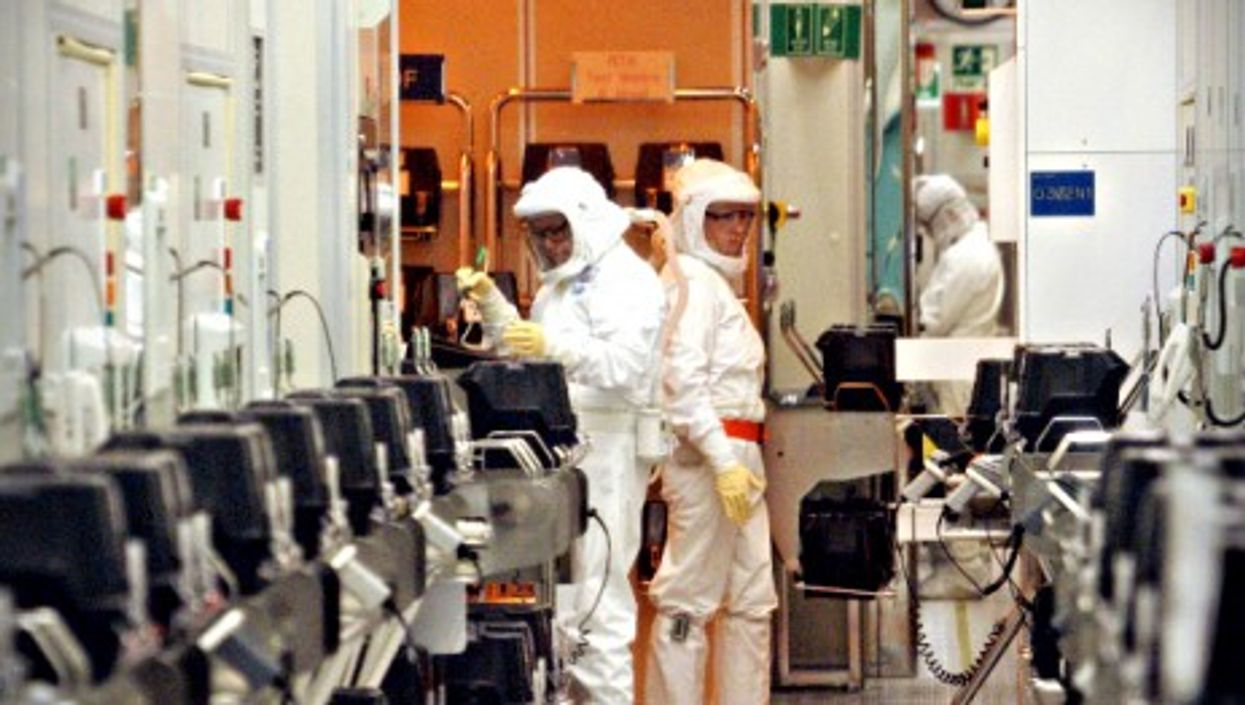Workers at Intel's plant in Kiryat Gat