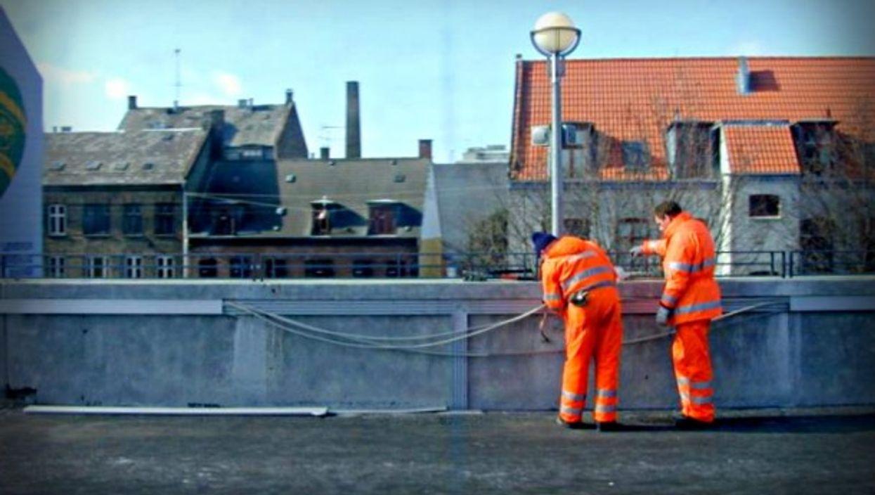 Working on the line in Copenhagen