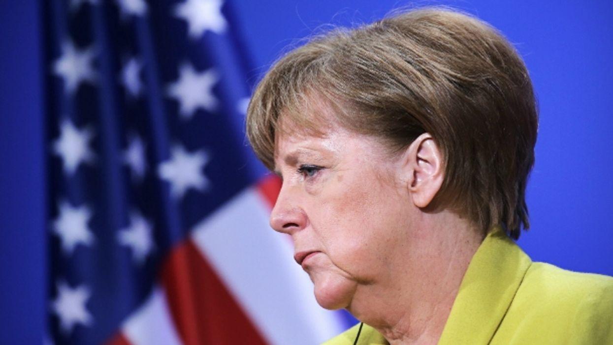 Worried Angela Merkel