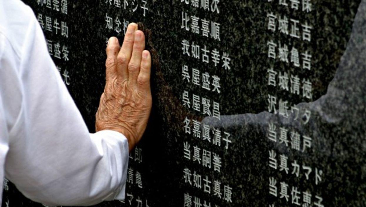 WWII memorial in Okinawa, Japan