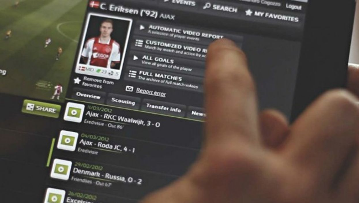 Wyscout provides a database for statistics and analysis of soccer players