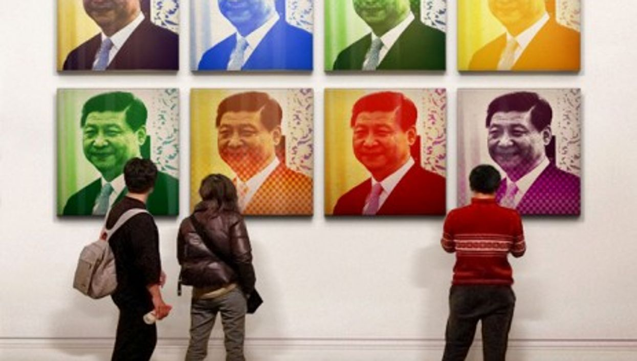 Xi Jinping: a modern leader for China? (Photomontage)