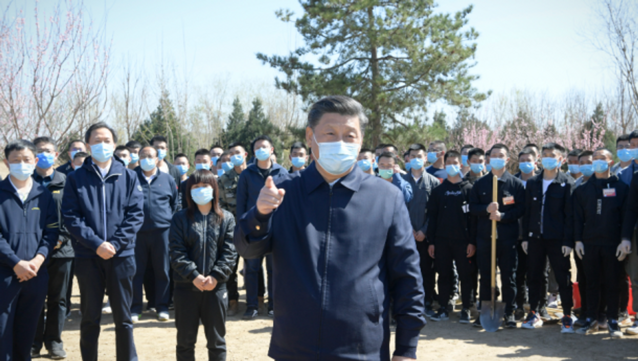 Xi Jinping in Beijing on April 3