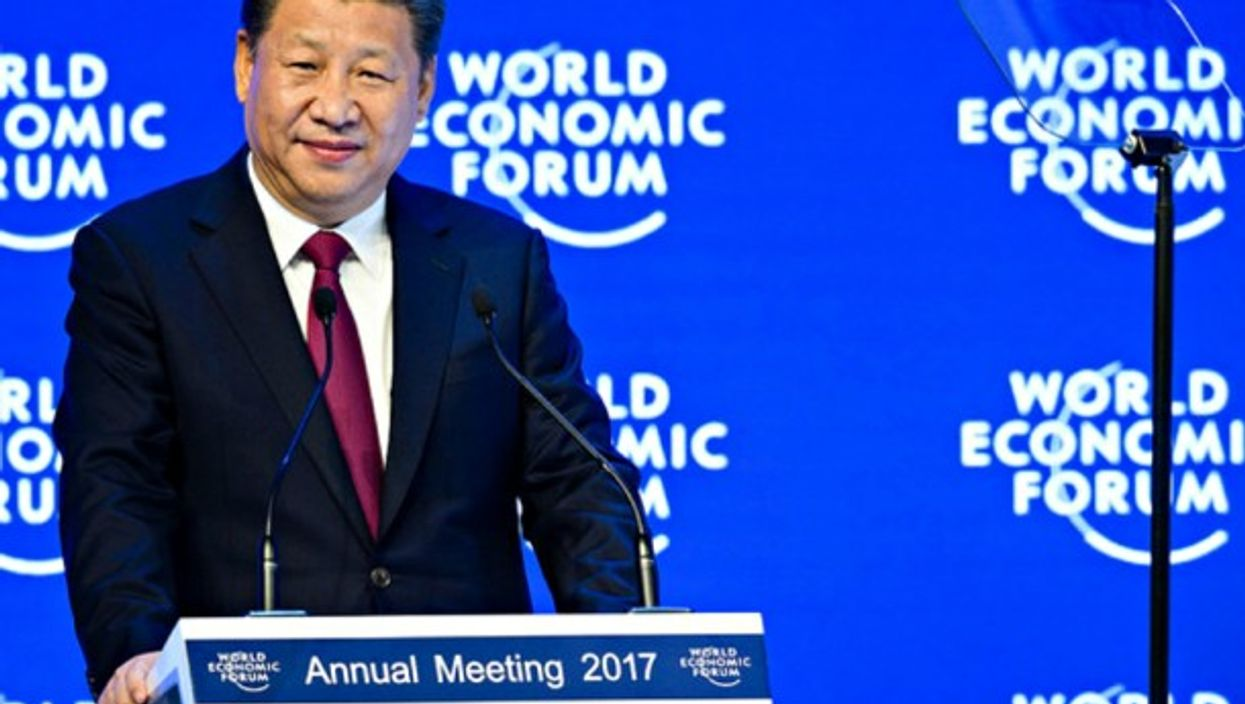 Xi Jinping speaking in Davos on Tuesday