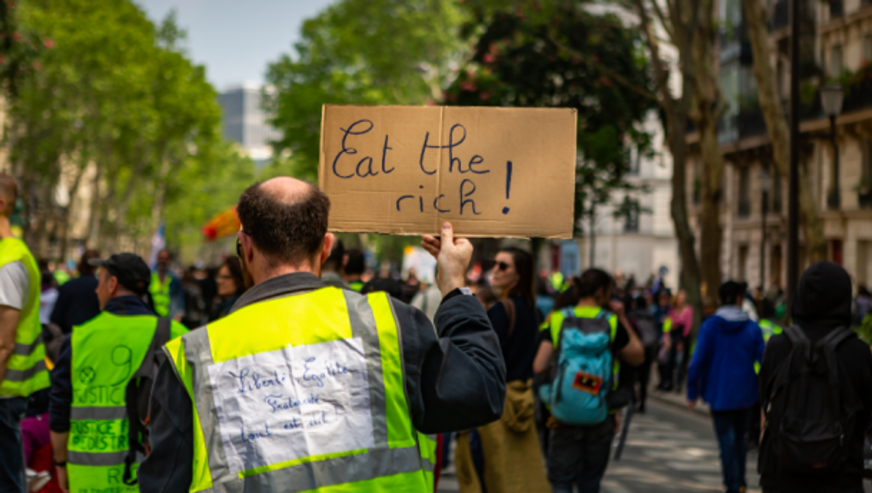 Yellow vests at this year's May Day protests in Paris