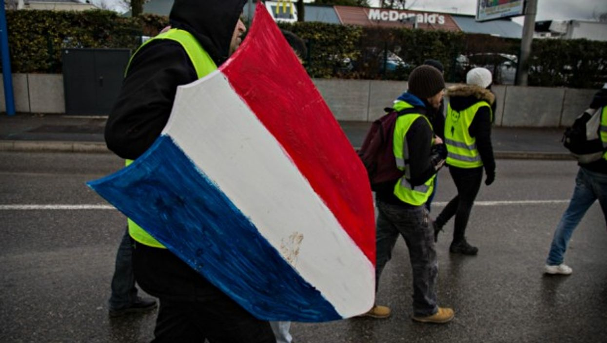 Yellow Vests protest in Manosque on Feb. 2