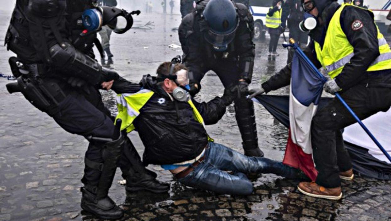 Yellow Vests protest in Paris in December