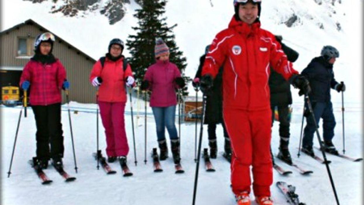 Yi Li, one of Switzerland most sought-after ski instructors
