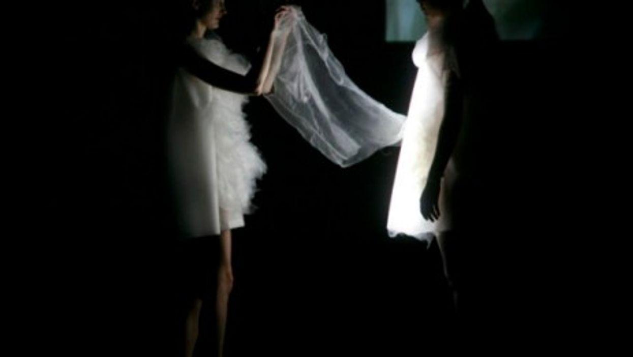 Ying Gao's photo-luminescent dresses