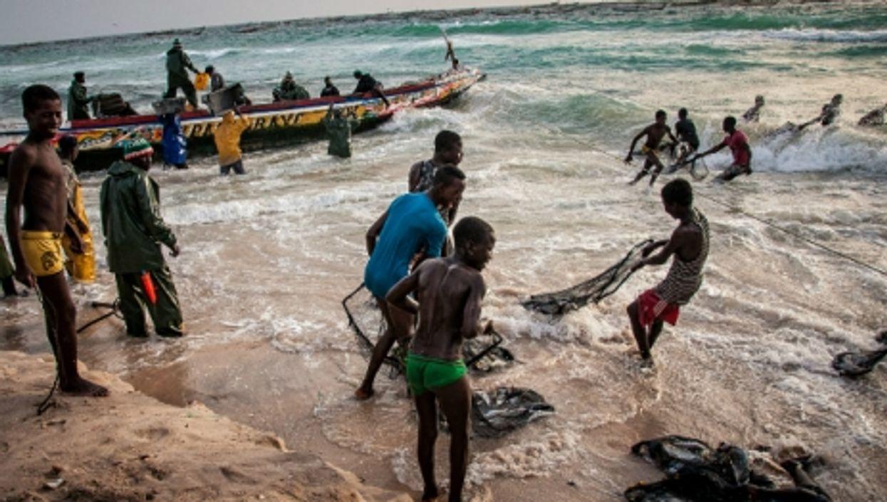 Young fishermen in Nouakchott, Mauritania