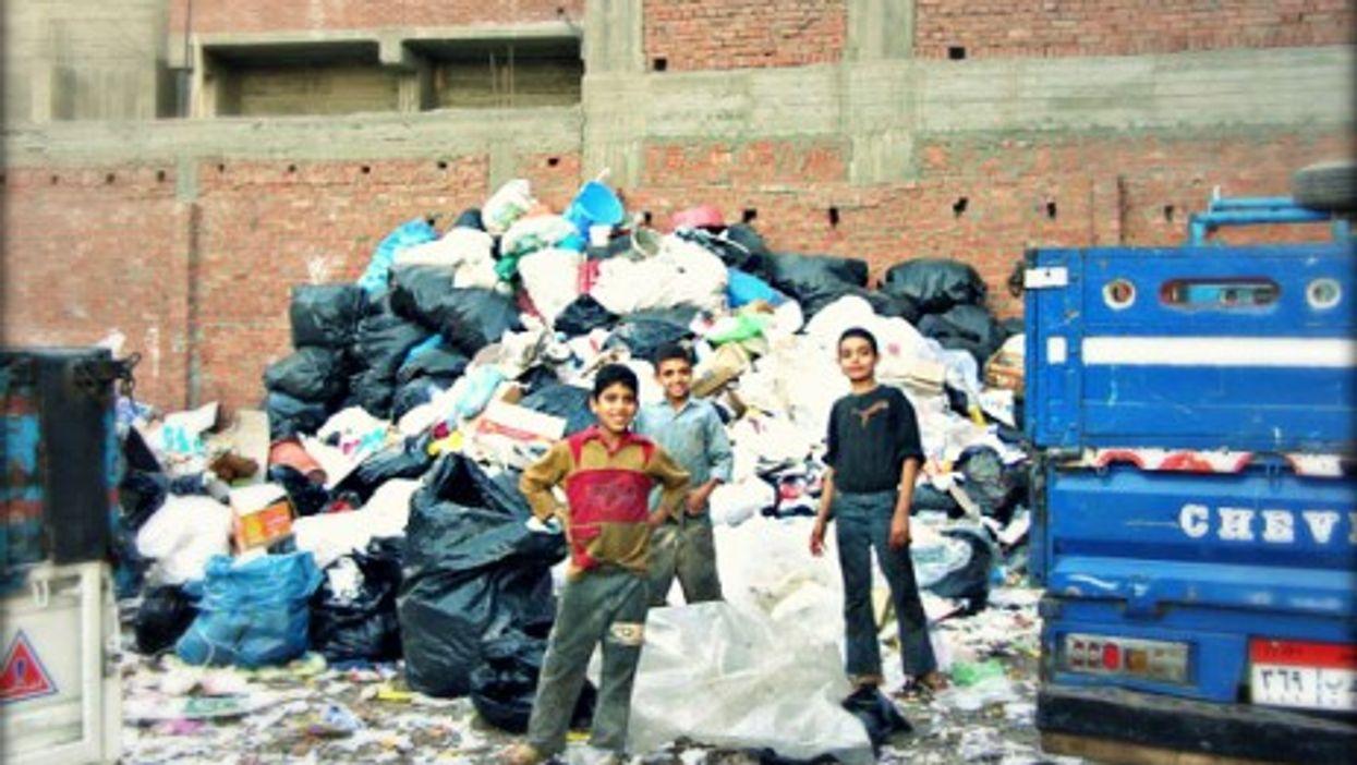 Young Zabbaleen in Manshiyat Naser, aka Garbage City