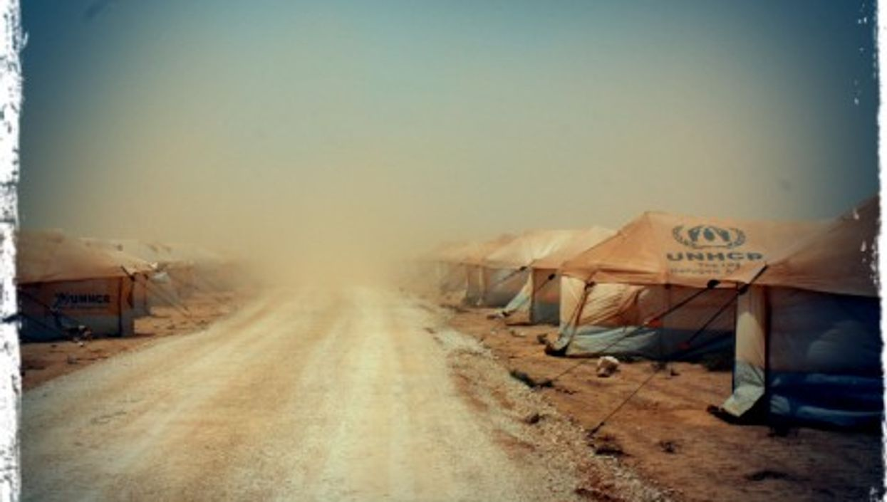 """Zaatari camp, a """"town"""" of transit for 1,500 to 2,000 refugees"""