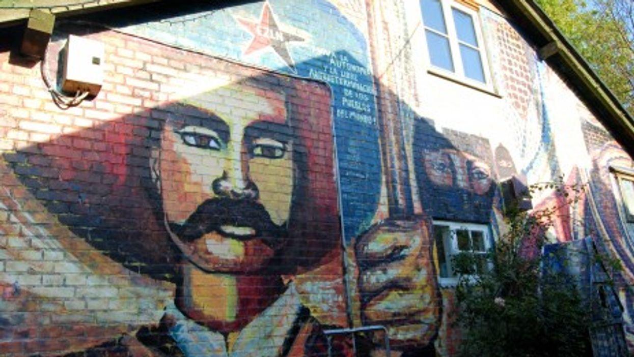 Zapatista mural in Christiania