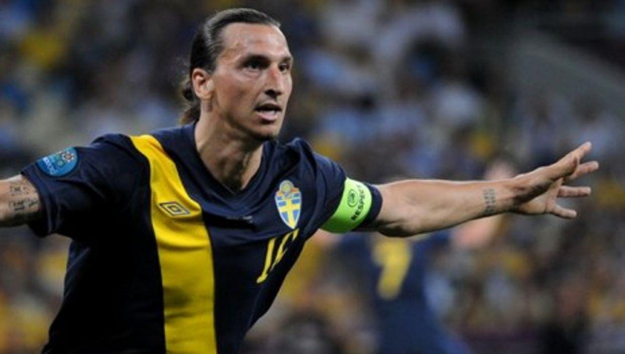 Zlatan Ibrahimovic at the Euro 2012 match against Ukraine