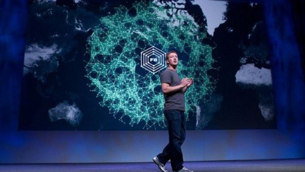 Zuckerberg at Friday's F8 Facebook convention (paz.ca)